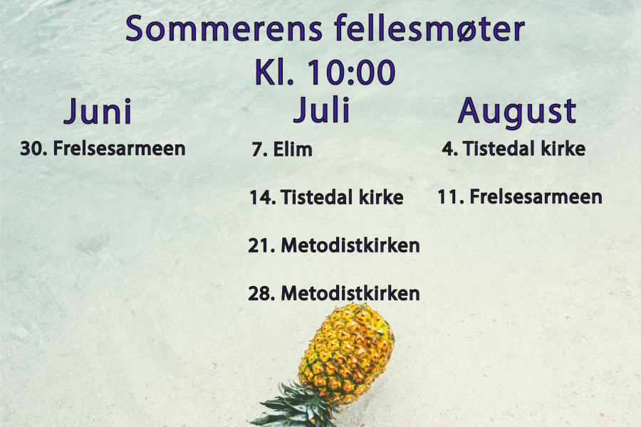 Sommerens fellesmøter